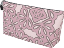 Load image into Gallery viewer, The Rose Makeup Bag in Rose-Makeup Bag-Clash Patterns by Jennifer Akkermans