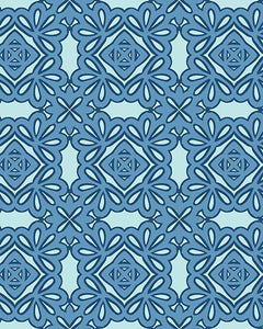 The Rose Print-at-Home Art Print in Blue - Digital Download-Clash Patterns