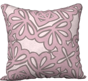 The Rose Reversible Pillow in Rose