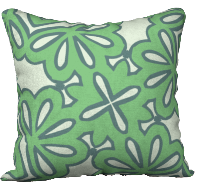 The Rose Reversible Pillow in Pistachio