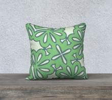 Load image into Gallery viewer, The Rose Reversible Pillow in Pistachio-Clash Patterns