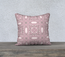Load image into Gallery viewer, The Rose Reversible Pillow in Rose-Clash Patterns