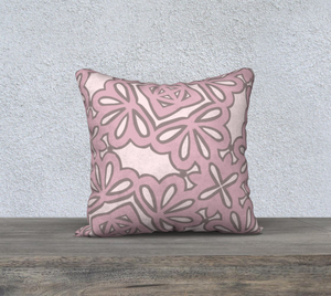 The Rose Reversible Pillow in Rose-Clash Patterns