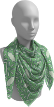 Load image into Gallery viewer, The Rose Square Scarf in Pistachio-Square Scarf-Clash Patterns by Jennifer Akkermans