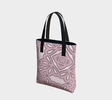 Load image into Gallery viewer, The Rose Tote Bag in Rose-Clash Patterns