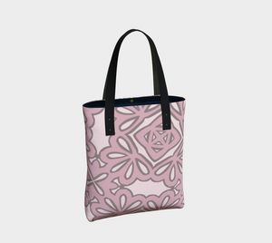 The Rose Tote Bag in Rose-Clash Patterns
