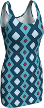 Load image into Gallery viewer, The Samantha Fitted Dress in Blue