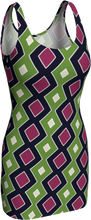 Load image into Gallery viewer, The Samantha Fitted Dress in Green and Wine