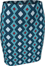 Load image into Gallery viewer, The Samantha Fitted Skirt in Blue