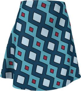 The Samantha Flare Skirt in Blue