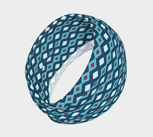 The Samantha Headband in Blue-Clash Patterns