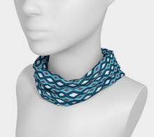 Load image into Gallery viewer, The Samantha Headband in Blue-Clash Patterns