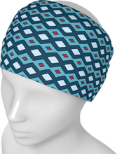 Load image into Gallery viewer, The Samantha Headband in Blue-Headband-Clash Patterns by Jennifer Akkermans