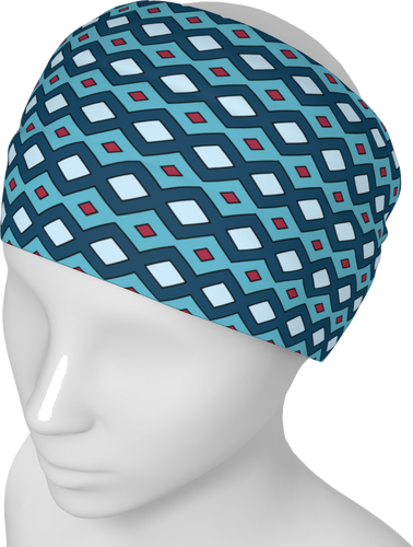 The Samantha Headband in Blue-Headband-Clash Patterns by Jennifer Akkermans
