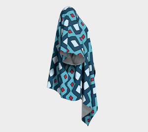 The Samantha Kimono in Blue-Clash Patterns