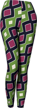 Load image into Gallery viewer, The Samantha Leggings in Green and Wine