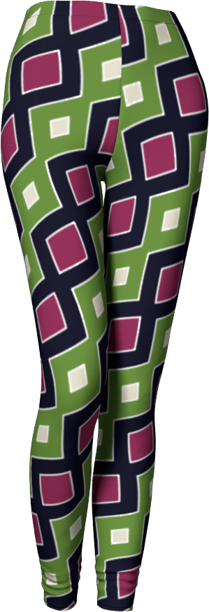 The Samantha Leggings in Green and Wine