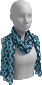 The Samantha Long Scarf in Blue