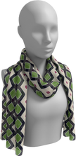 Load image into Gallery viewer, The Samantha Long Scarf in Navy and Green