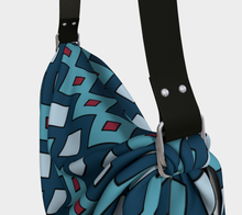 Load image into Gallery viewer, The Samantha Origami Bag in Blue-Clash Patterns