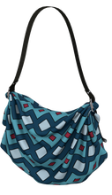 Load image into Gallery viewer, The Samantha Origami Bag in Blue-Origami Tote-Clash Patterns by Jennifer Akkermans