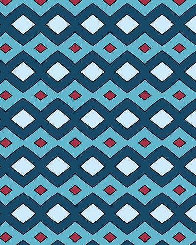 The Samantha Print-at-Home Art Print in Blue - Digital Download-Clash Patterns