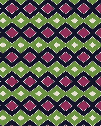The Samantha Print-at-Home Art Print in Green and Wine - Digital Download-Clash Patterns