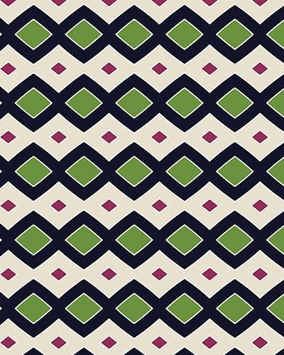 The Samantha Print-at-Home Art Print in Navy and Green - Digital Download-Clash Patterns