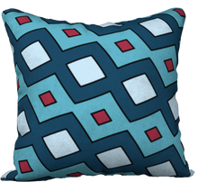 Load image into Gallery viewer, The Samantha Reversible Pillow in Blue