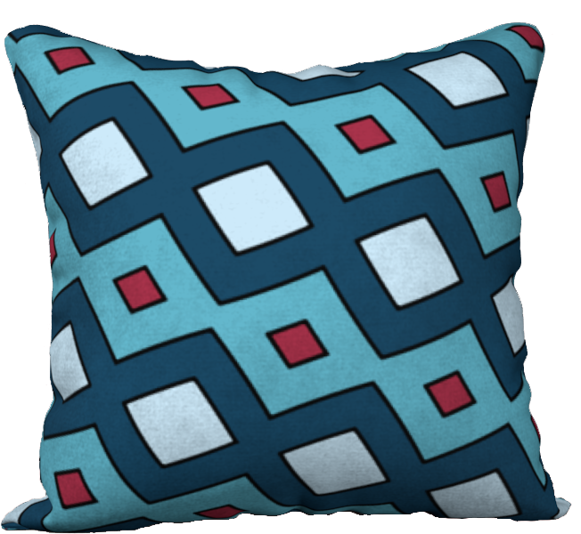 The Samantha Reversible Pillow in Blue