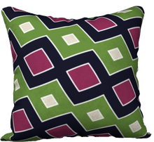 Load image into Gallery viewer, The Samantha Reversible Pillow in Green and Wine