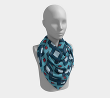 Load image into Gallery viewer, The Samantha Square Scarf in Blue