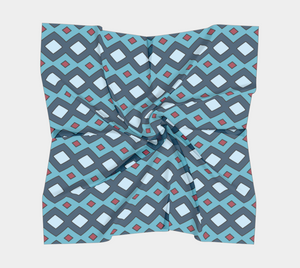 The Samantha Square Scarf in Blue