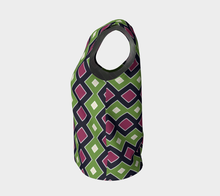 Load image into Gallery viewer, The Samantha Tank Top in Green and Wine-Clash Patterns
