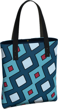 Load image into Gallery viewer, The Samantha Tote Bag in Blue-Tote Bag-Clash Patterns by Jennifer Akkermans