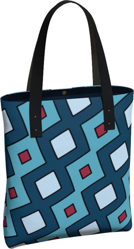 The Samantha Tote Bag in Blue
