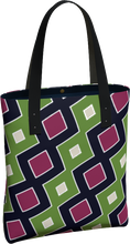 Load image into Gallery viewer, The Samantha Tote Bag in Green and Wine