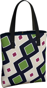 The Samantha Tote Bag in Navy and Green