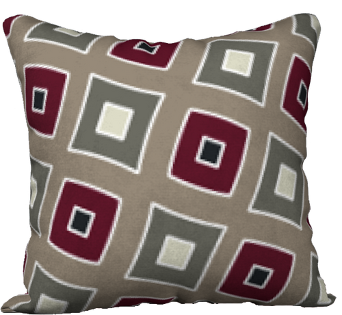 The Sandra Reversible Pillow in Neutral Maroon-18