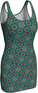 The Sarah Fitted Dress in Green