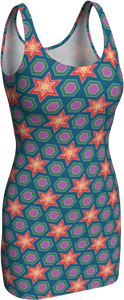 The Sarah Fitted Dress in Multicolour