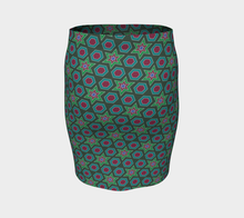 Load image into Gallery viewer, The Sarah Fitted Skirt in Green-Clash Patterns