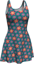 Load image into Gallery viewer, The Sarah Flare Dress in Multicolour-Flare Dress-Clash Patterns by Jennifer Akkermans