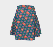 Load image into Gallery viewer, The Sarah Flare Skirt in Multicolour-Clash Patterns