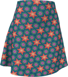 The Sarah Flare Skirt in Multicolour