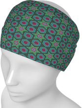 Load image into Gallery viewer, The Sarah Headband in Green-Headband-Clash Patterns by Jennifer Akkermans