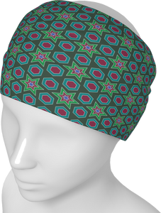 The Sarah Headband in Green-Headband-Clash Patterns by Jennifer Akkermans