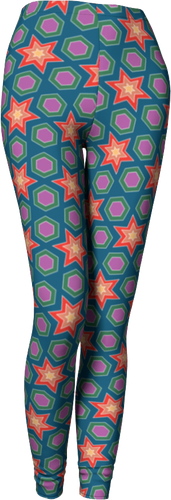 The Sarah Leggings in Multicolour-Leggings-Clash Patterns by Jennifer Akkermans
