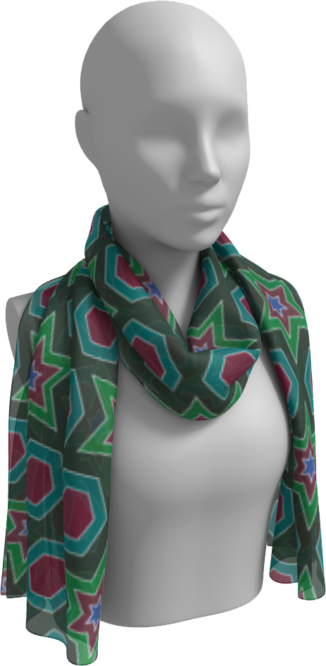 The Sarah Long Scarf in Green