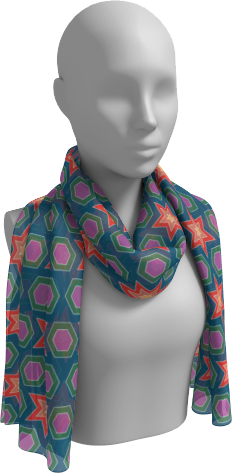 The Sarah Long Scarf in Multicolour
